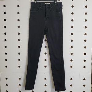 "Madewell 10"" High Rise Black Skinny Jeans"